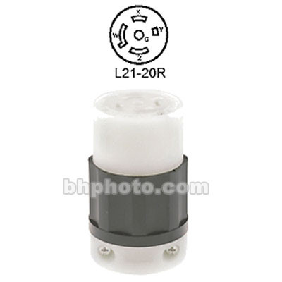 Altman 4 Pole, 5 Wire L21-20P Connector - Female - 20 Amps