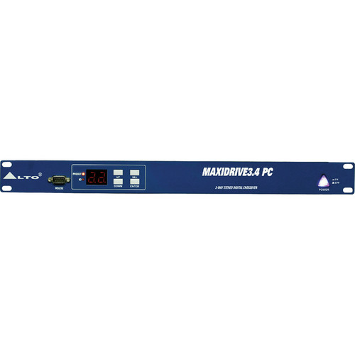Alto MAXIDRIVE 3.4 PC - 3-Way Stereo, 6-Way Mono PC Controlled Digital Crossover