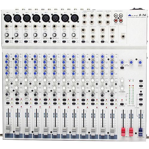 Alto S16 16-Channel 2-Bus Desktop Recording Mixer