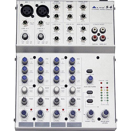 Alto S6 6-Channel 2-Bus Desktop Recording Mixer