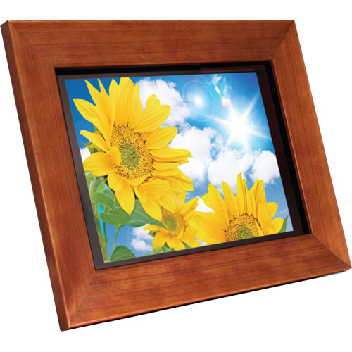 "Aluratek 11"" Hi-Res Digital Picture Frame (Wood)"