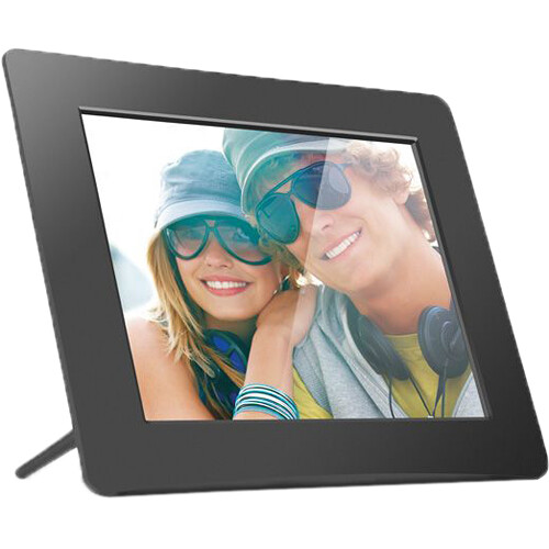 Aluratek ADPF08SF 8-Inch Digital Photo Frame (Matte Black)