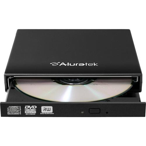 Aluratek USB 2.0 External Slim Multi-Format 8X DVD Writer with Windows Software