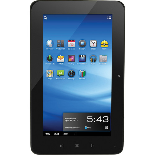 """Aluratek 8GB Cinepad 10"""" Capacitive Tablet with Android 4.0 (Black)"""