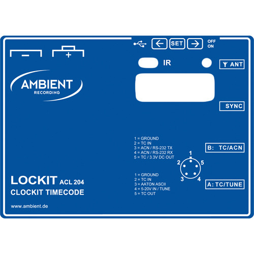 Ambient Recording ACLE-4 Lockit Label (Blue)