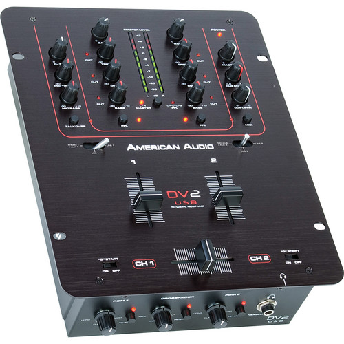 American Audio DV2 USB 2-Channel DJ Mixer