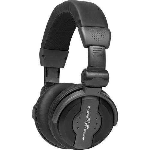 American Audio HP 550 Over-Ear DJ Headphones (Black)