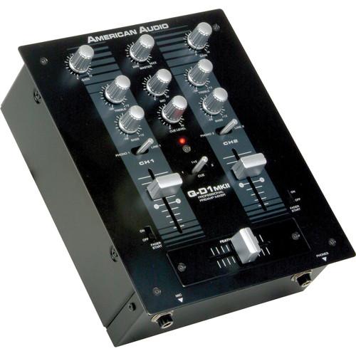 American Audio Q-D1 MKII Professional 2-Channel DJ Mixer