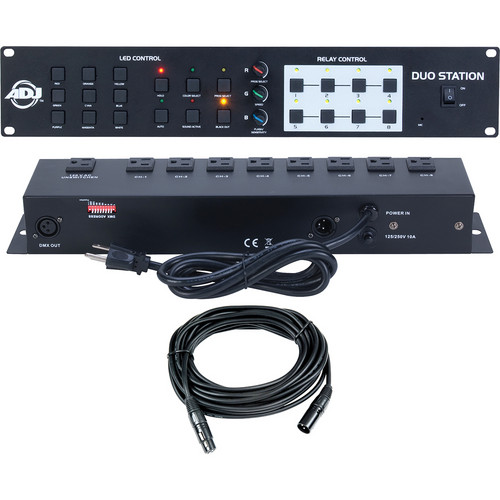 American DJ DJ Duo Station RGB LED and 8-Channel Switching Controller