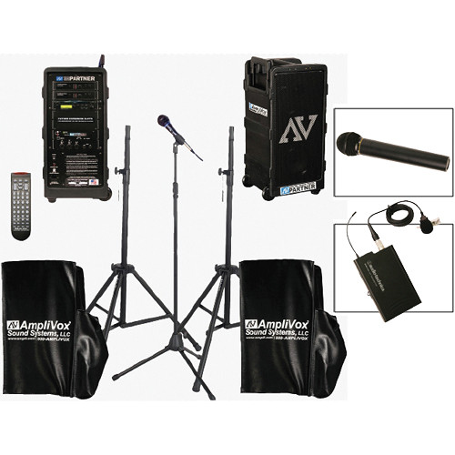 AmpliVox Sound Systems B9154-HHL Platinum Digital Audio Travel Partner PA Package