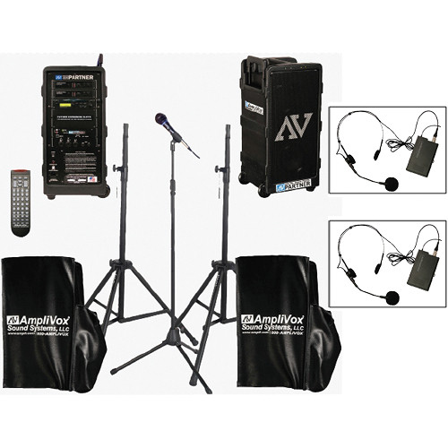 AmpliVox Sound Systems B9154-HS2 Platinum Digital Audio Travel Partner PA Package