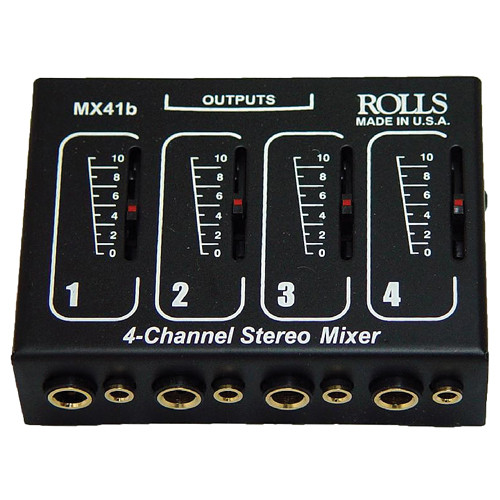 AmpliVox Sound Systems S1350 4-Channel Microphone Mixer