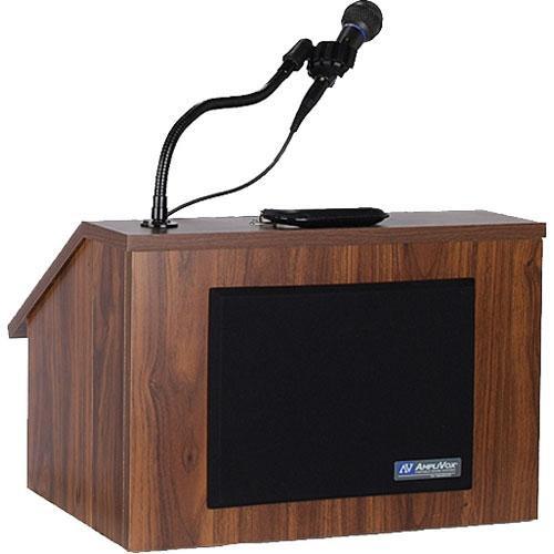 AmpliVox Sound Systems S272 EZ Speak Folding Lectern (Walnut)