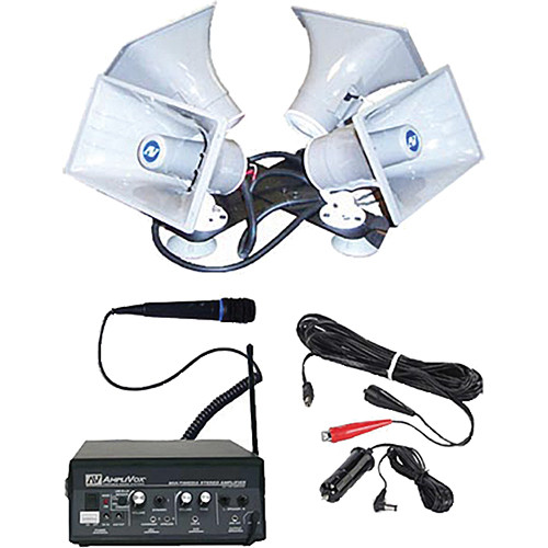 AmpliVox Sound Systems S314 Sound Cruiser 50W Quad Horn Mobile PA System