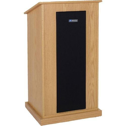AmpliVox Sound Systems S470-LO Riverwoods Chancellor Lectern (Light Oak)