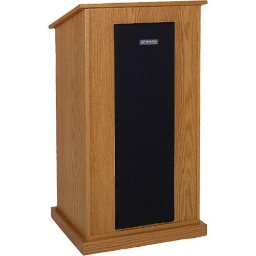 AmpliVox Sound Systems S470-MO Riverwoods Chancellor Lectern (Medium Oak)