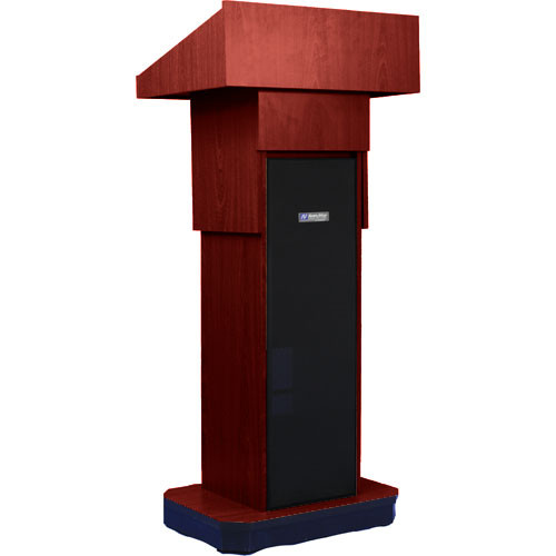 AmpliVox Sound Systems S505A Executive Adjustable Sound Column Lectern (Mahogany)