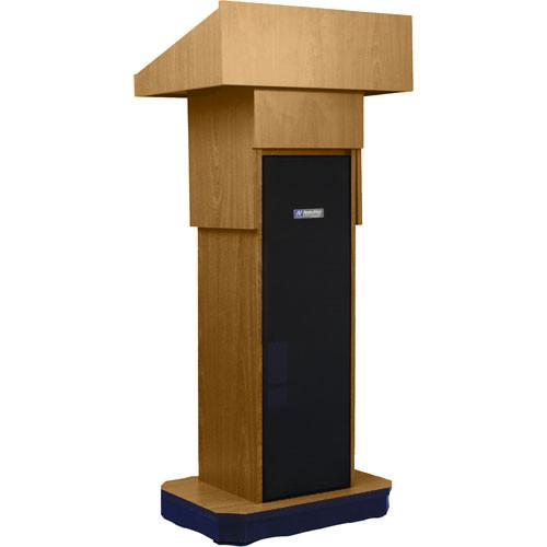 AmpliVox Sound Systems S505A Executive Adjustable Sound Column Lectern (Light Oak)