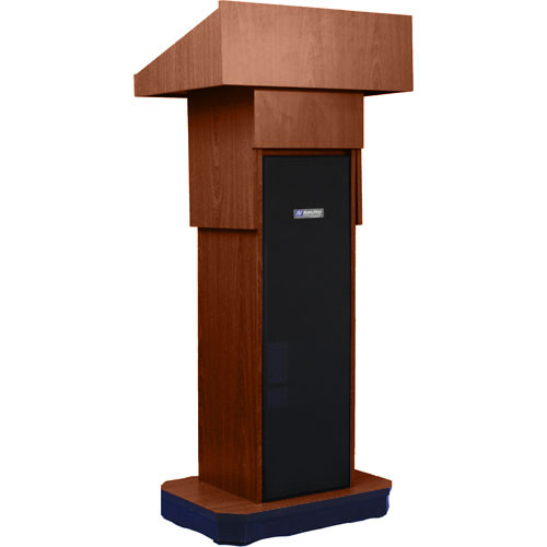 AmpliVox Sound Systems S505A Executive Adjustable Sound Column Lectern (Walnut)