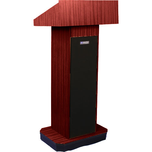 AmpliVox Sound Systems S505 Executive Sound Column Lectern (Mahogany)