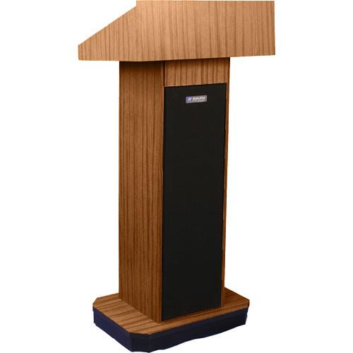 AmpliVox Sound Systems S505 Executive Sound Column Lectern (Medium Oak)