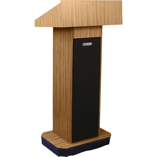 AmpliVox Sound Systems S505 Executive Sound Column Lectern (Light Oak)