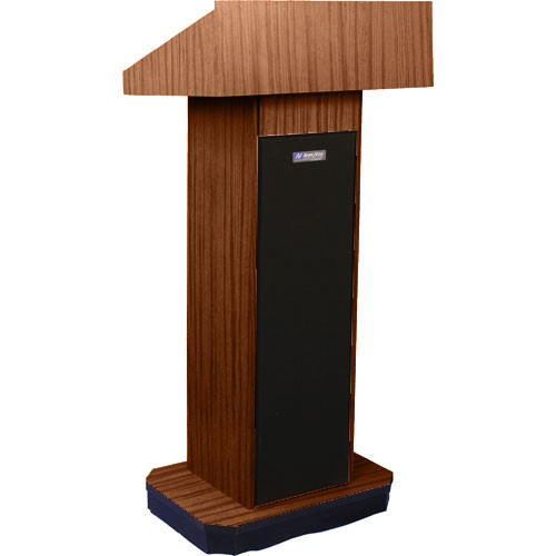 AmpliVox Sound Systems S505 Executive Sound Column Lectern (Walnut)