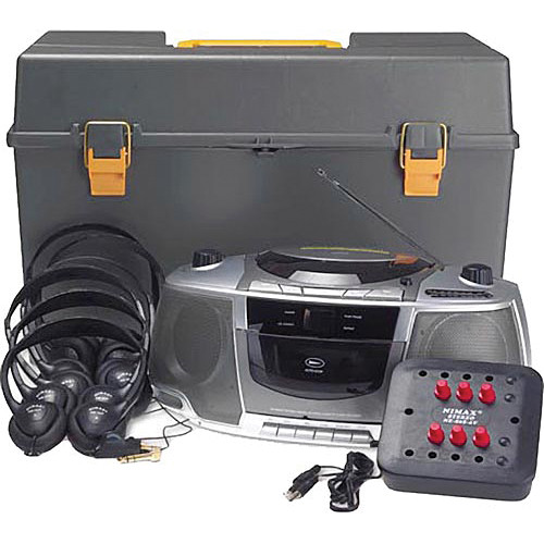 AmpliVox Sound Systems SL1070 6-Station Listening Center/Boombox with Headphones