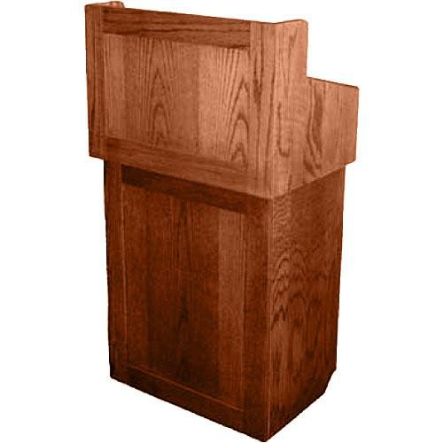 AmpliVox Sound Systems Oxford Solid Wood Non-sound Lectern Natural Cherry