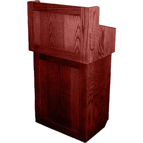 AmpliVox Sound Systems Oxford Solid Wood Non-sound Lectern Mahagony