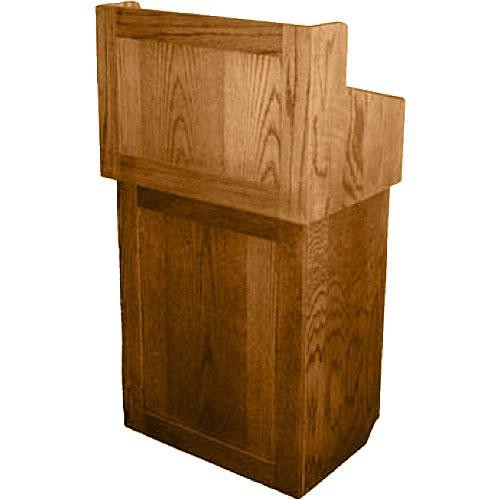 AmpliVox Sound Systems Oxford Solid Wood Non-sound Lectern Natural Oak