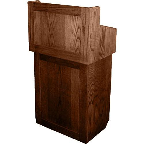 AmpliVox Sound Systems Oxford Solid Wood Non-sound Lectern Walnut