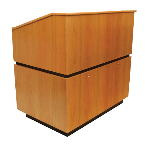 AmpliVox Sound Systems Coventry Lectern (Non-Sound, Natural Oak)