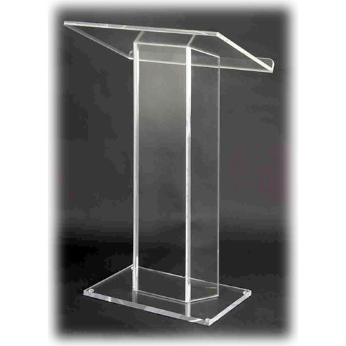 AmpliVox Sound Systems SN3055 Large Top Acrylic Lectern (Clear)
