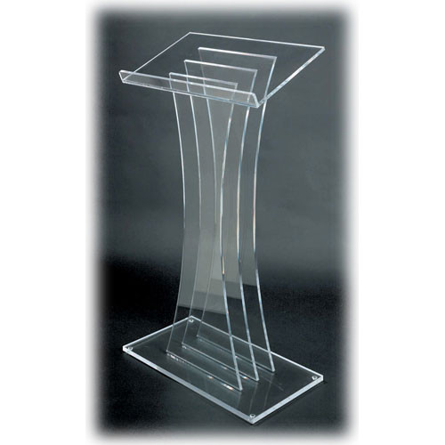 AmpliVox Sound Systems SN3065 Contemporary Acrylic Lectern (Clear)