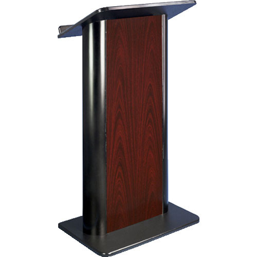 AmpliVox Sound Systems SN3090 Contemporary Color Panel Lectern (Jewel Mahogany)