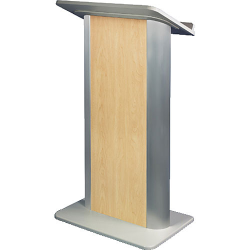 AmpliVox Sound Systems SN3110 Contemporary Color Panel Lectern (Hardrock Maple)