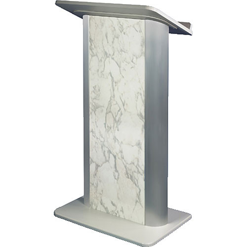 AmpliVox Sound Systems SN3115 Contemporary Color Panel Lectern (Bianco Marble)