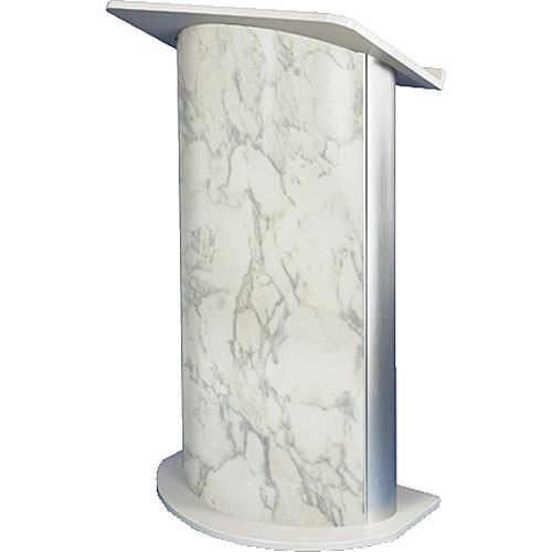 AmpliVox Sound Systems SN3120 Curved Color Panel Lectern (Bianco Marble)