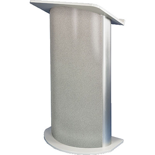 AmpliVox Sound Systems SN3125 Curved Color Panel Lectern (Grey Granite)