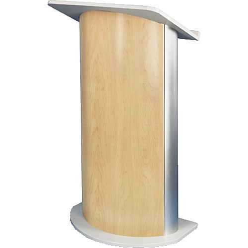 AmpliVox Sound Systems SN3130 Curved Color Panel Lectern (Hardrock Maple)