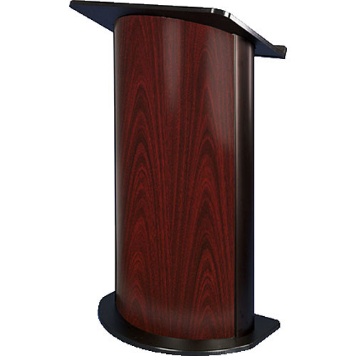 AmpliVox Sound Systems SN3135 Curved Color Panel Lectern (Jewel Mahogany)