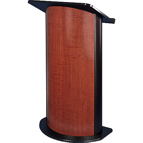 AmpliVox Sound Systems SN3145 Curved Color Panel Lectern (Cherry)