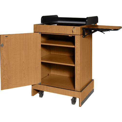 AmpliVox Sound Systems Multimedia Computer Lectern (Medium Oak)