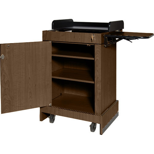 AmpliVox Sound Systems Multimedia Computer Lectern (Walnut)