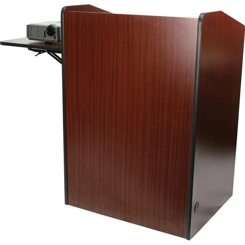 AmpliVox Sound Systems SN3235-MH Wireless Multimedia Presentation Podium (Mahogany)