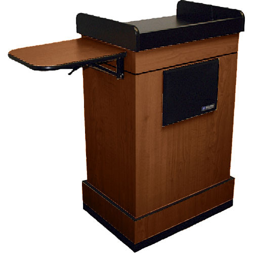 AmpliVox Sound Systems SS3230 Multimedia Computer Lectern with Sound (Mahogany)