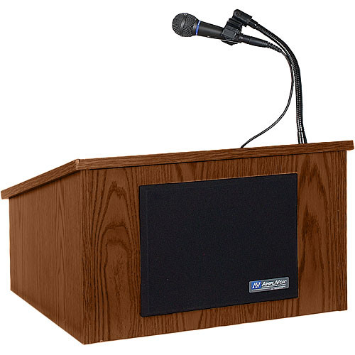 AmpliVox Sound Systems Wireless Tabletop Lectern System (Walnut)