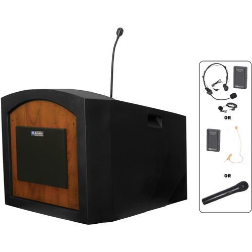 AmpliVox Sound Systems SW3240 Pinnacle Wireless Tabletop Lectern (Medium Oak)