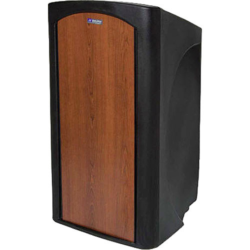 AmpliVox Sound Systems SW3250 Pinnacle Multimedia Lectern with Wireless Headset Microphone (Select Cherry)